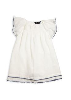 Ralph Lauren Toddlers and Little Girls Flutter Sleeve Dress