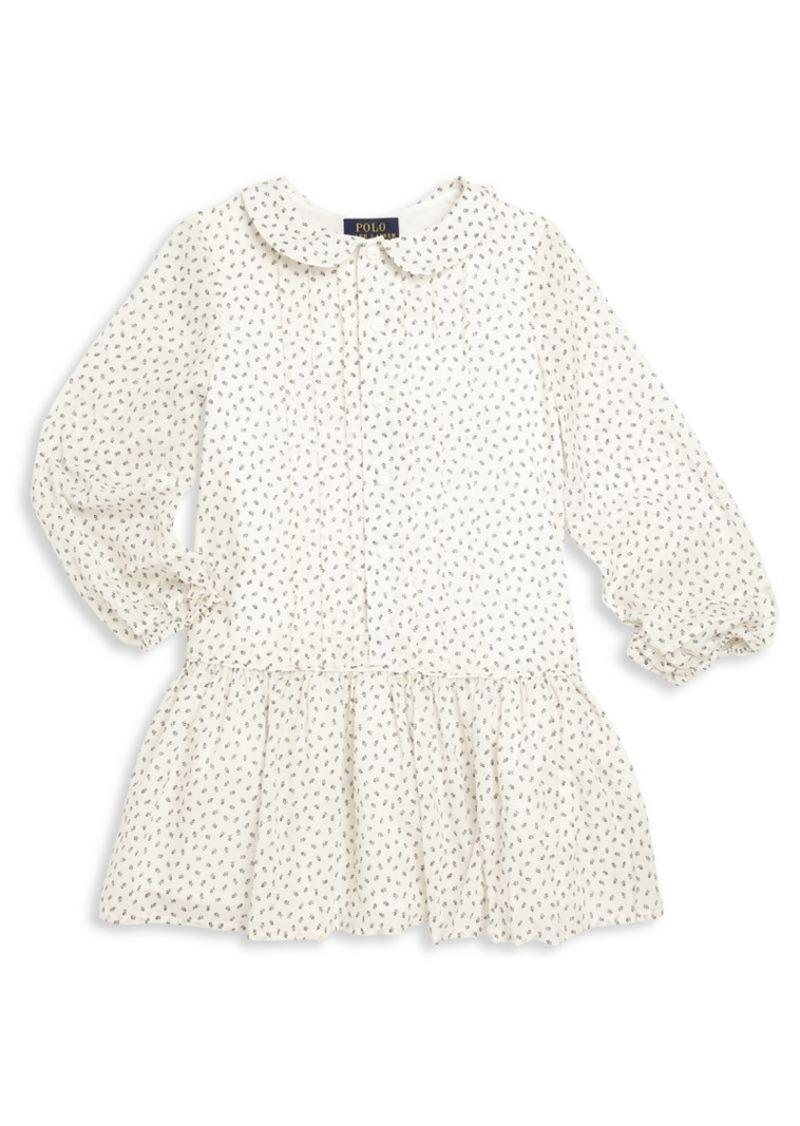 Ralph Lauren Toddler's Cotton Collared Drop-Waist Dress
