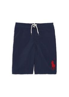 Ralph Lauren Little Boy's & Boy's Contrast Logo Swim Shorts