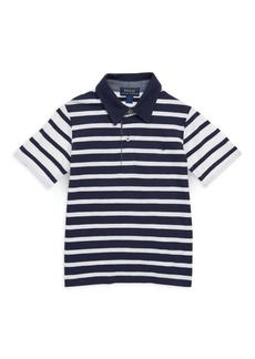 Ralph Lauren Little Boy's & Boy's Contrast Striped Cotton Polo