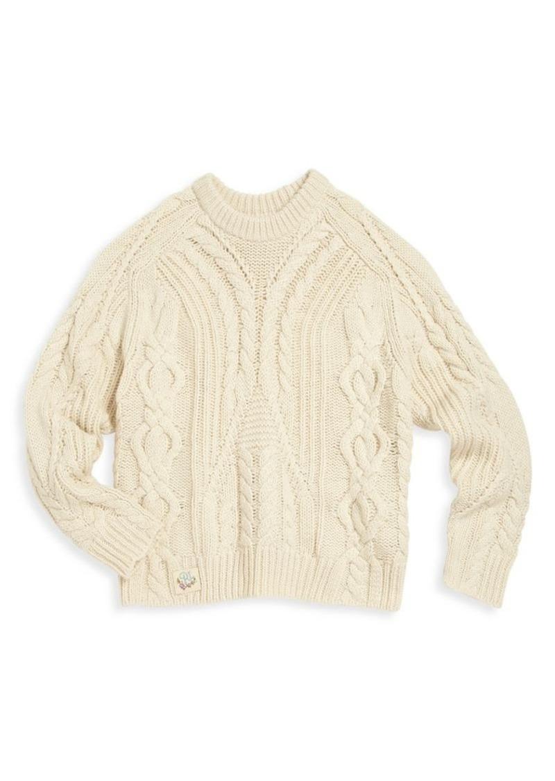 Ralph Lauren Toddler's, Little Girl's & Girl's Cable-Knit Sweater