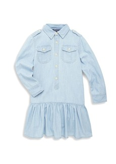 Ralph Lauren Toddler's, Little Girl's & Girl's Chambray Cotton Shirt Dress