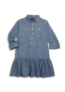 Ralph Lauren Toddler's, Little Girl's & Girl's Chambray Drop-Waist Shirtdress
