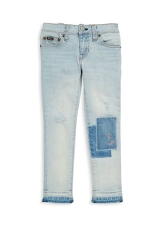 Ralph Lauren Toddler's, Little Girl's & Girl's Distressed Patched Jeans