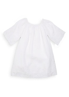 Ralph Lauren Toddler's, Little Girl's & Girl's Lace-Hem Linen Dress