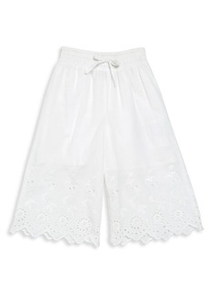 Ralph Lauren Toddler's, Little Girl's & Girl's Lace-Hem Cotton Pants