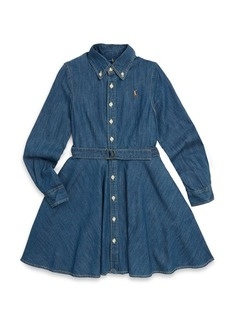 Ralph Lauren Toddler's, Little Girl's & Girl's Long-Sleeve Cotton Denim Shirtdress