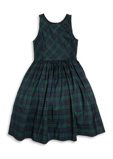 Ralph Lauren Toddler's, Little Girl's & Girl's Mulberry Silk Plaid Fit-&-Flare Dress