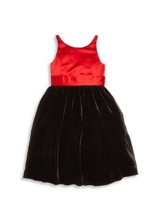 Ralph Lauren Toddler's, Little Girl's & Girl's Silk Colorblock Fit-&-Flare Dress