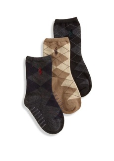 Ralph Lauren Toddler's Three-Pair Argyle Slack Socks