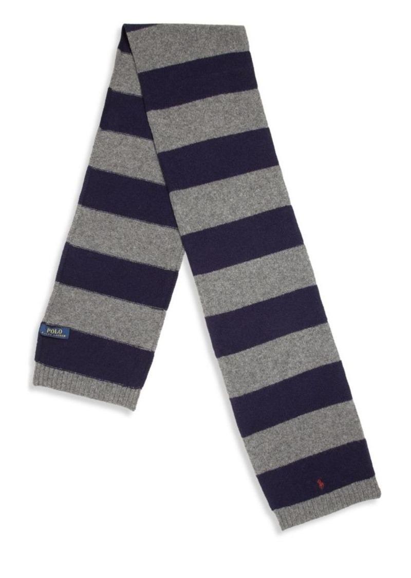 Ralph Lauren Toddler's & Little Boy's Wool & Cashmere Striped Scarf