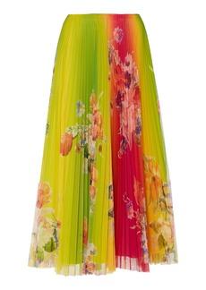 Ralph Lauren Trivelas Floral Plissé Midi Skirt