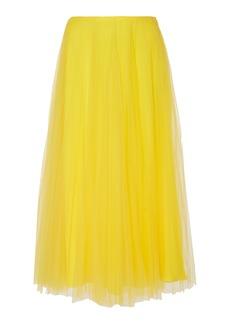 Ralph Lauren Trivelas Pleated Tulle Midi Skirt