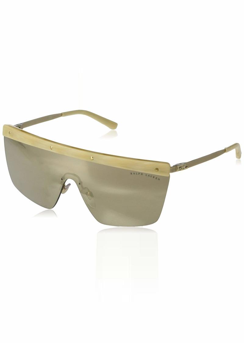 Ralph Lauren Women's RL7056 Irregular Metal Shield Sunglasses  0 mm