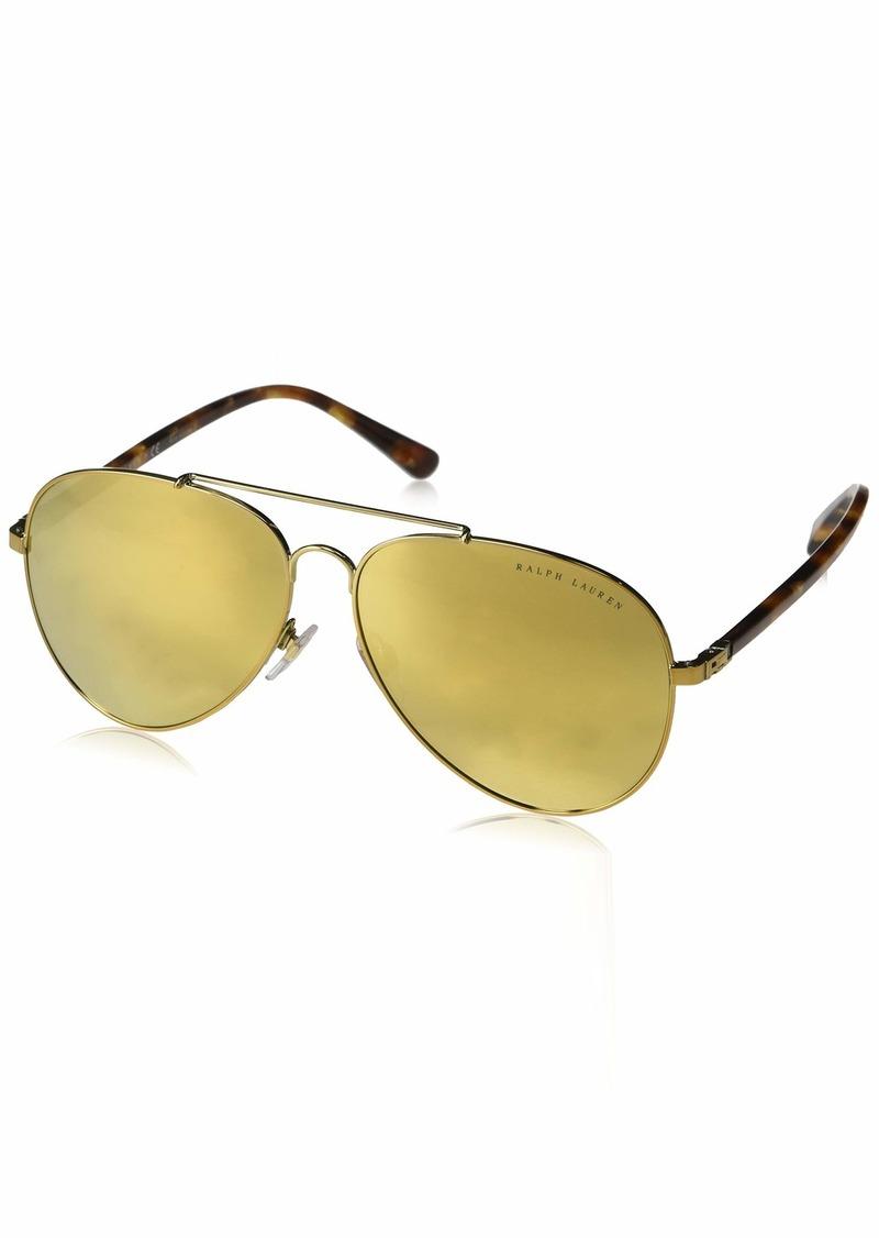 Ralph Lauren Women's RL7058 Aviator Metal Sunglasses  62 mm