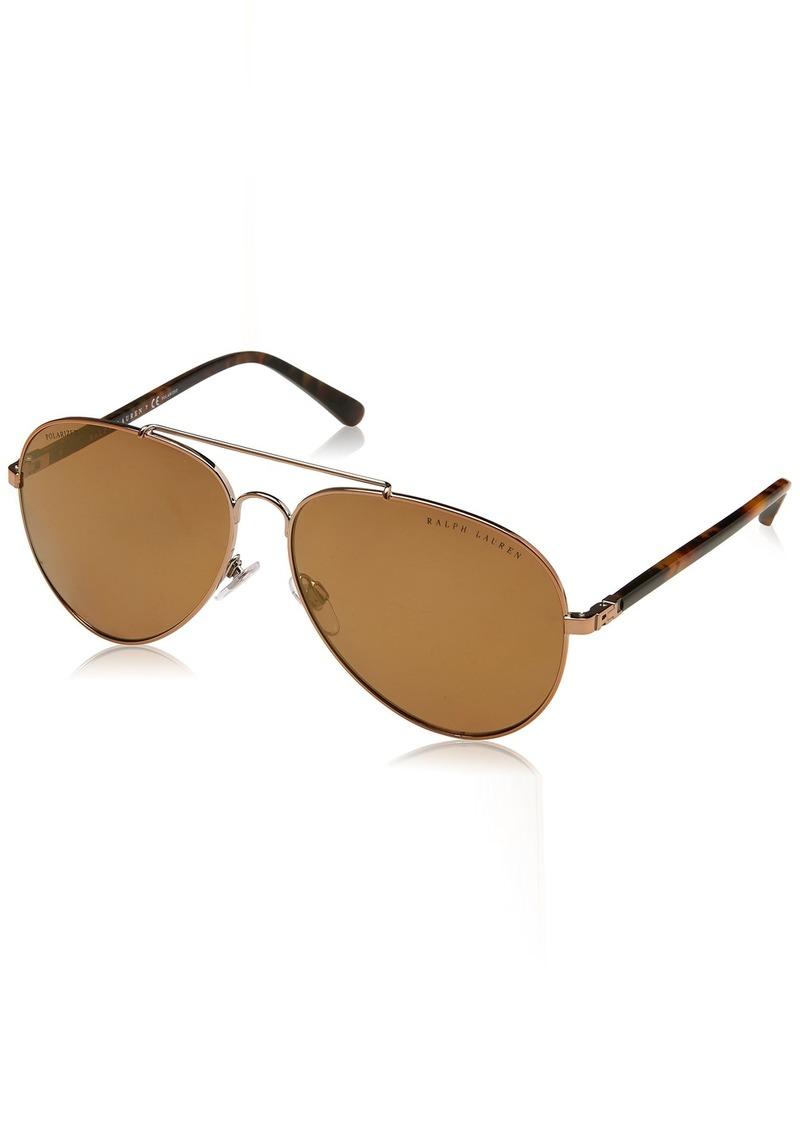 Ralph Lauren Women's RL7058 Aviator Metal Sunglasses  62.0 mm