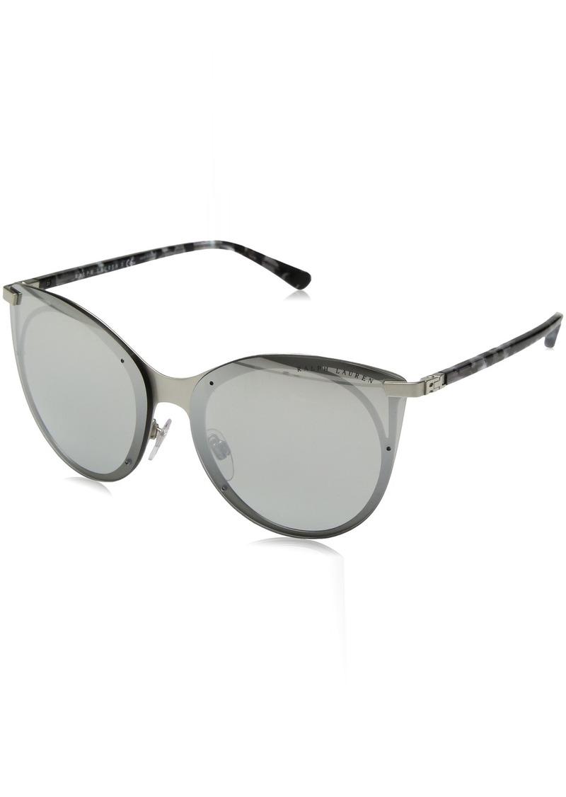 Ralph Lauren Women's RL7059 Butterfly Metal Sunglasses  63 mm