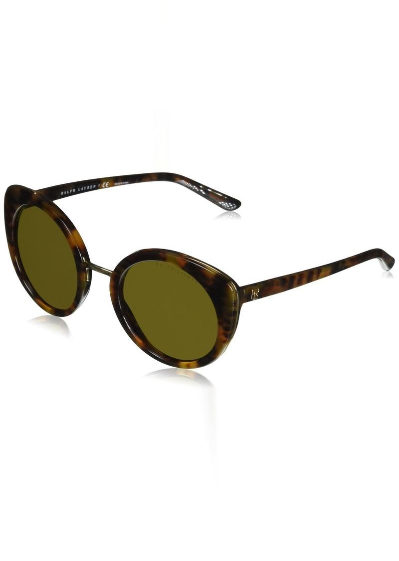 Ralph Lauren Women's RL8165 Round Sunglasses  52 mm