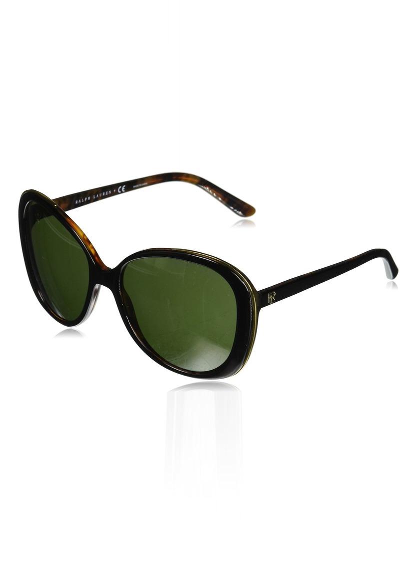 Ralph Lauren Women's RL8166 Butterfly Sunglasses  57 mm