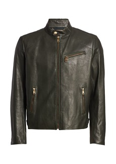 Ralph Lauren Randall Leather Biker Jacket