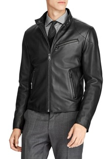 Ralph Lauren Randall Leather Biker Jacket