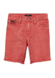 Ralph Lauren Raw-Hem Denim Shorts