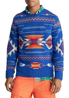 Ralph Lauren Regular-Fit Geometric-Pattern Wool Sweater