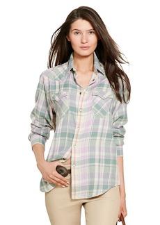Ralph Lauren Relaxed-Fit Plaid Shirt