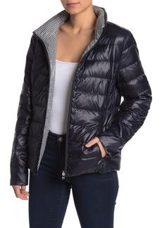 Ralph Lauren Reversible Gingham Quilted Puffer Jacket
