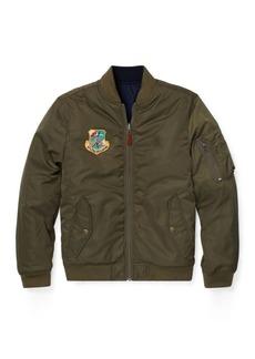 Ralph Lauren Reversible Twill Bomber Jacket