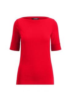 Ralph Lauren Ribbed Cotton Boatneck T-Shirt