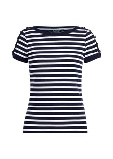 Ralph Lauren Ribbed Cotton T-Shirt