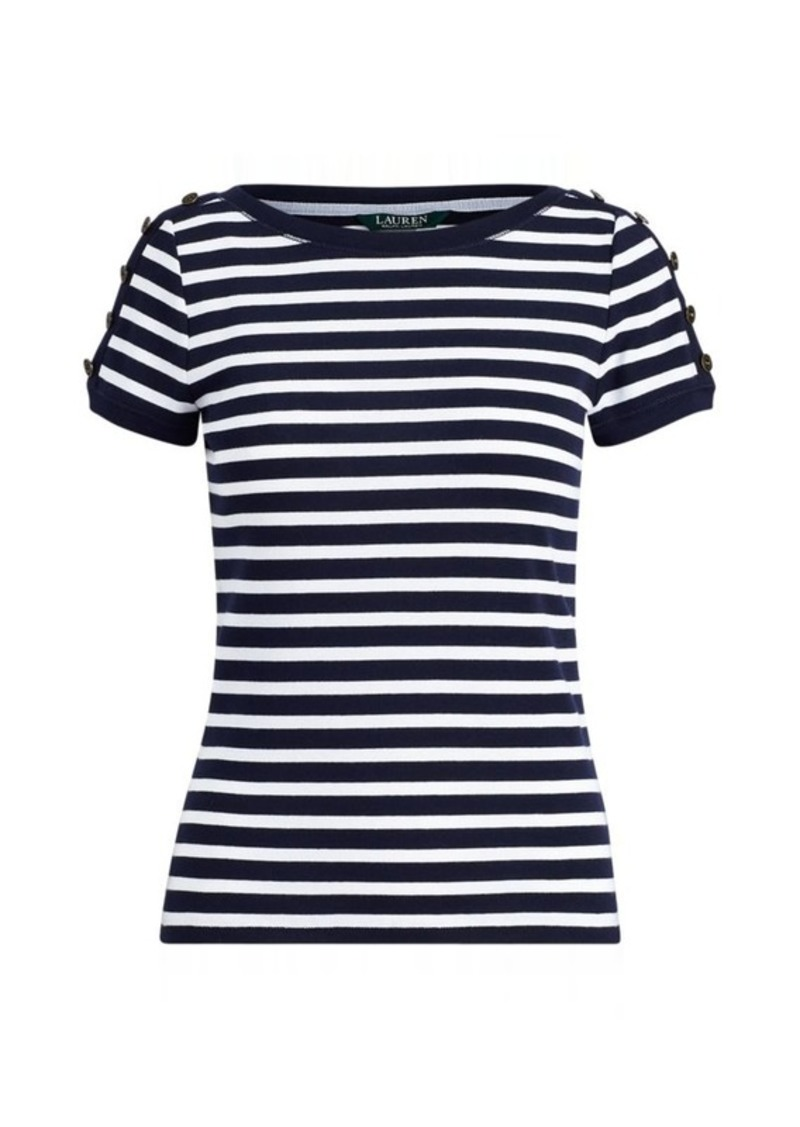Ralph Lauren Ribbed Cotton T-Shirt