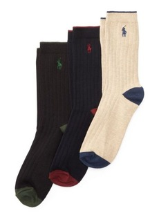 Ralph Lauren Ribbed Crew Sock 3-Pack