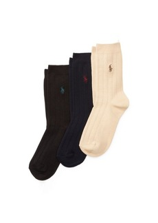 Ralph Lauren Ribbed Dress Sock 3-Pack