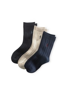 Ralph Lauren Ribbed Dress Socks 3-Pack