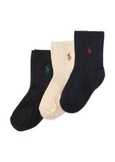 Ralph Lauren Ribbed Dress Socks 3-Pack