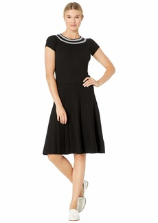 Ralph Lauren Ribbed Fit-and-Flare Dress