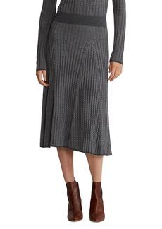 Ralph Lauren Ribbed Herringbone Knit Skirt