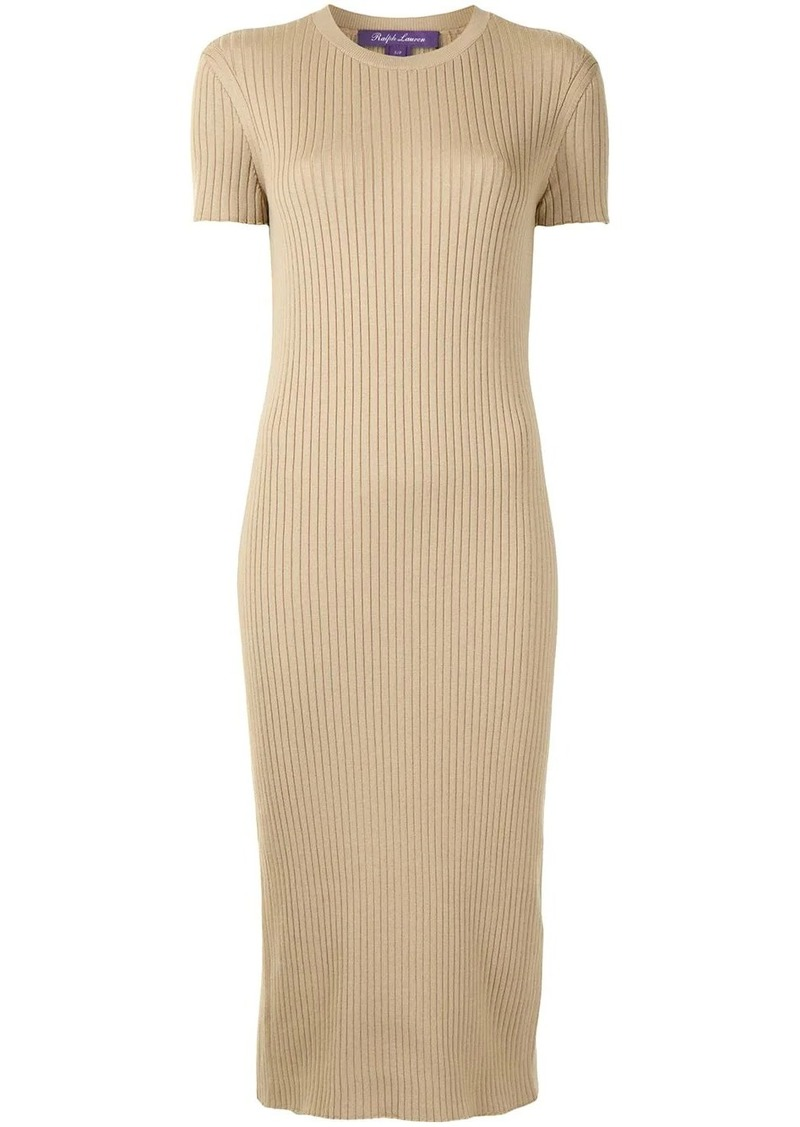 Ralph Lauren ribbed-knit midi dress