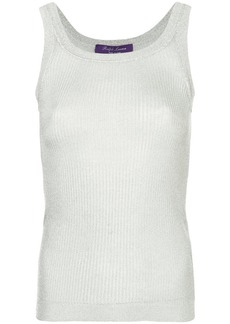 Ralph Lauren ribbed metallic tank top