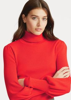 Ralph Lauren Ribbed Puff-Sleeve Sweater