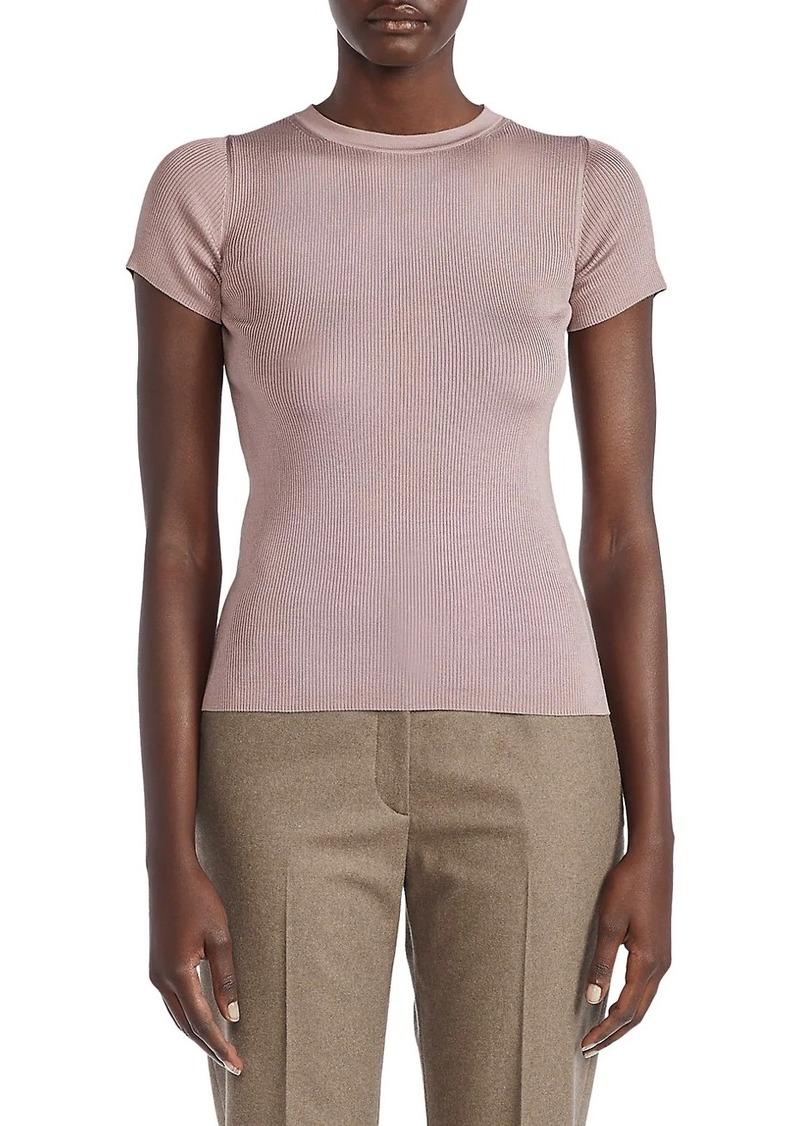Ralph Lauren Ribbed Silk Top