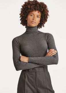 Ralph Lauren Ribbed Stretch Turtleneck
