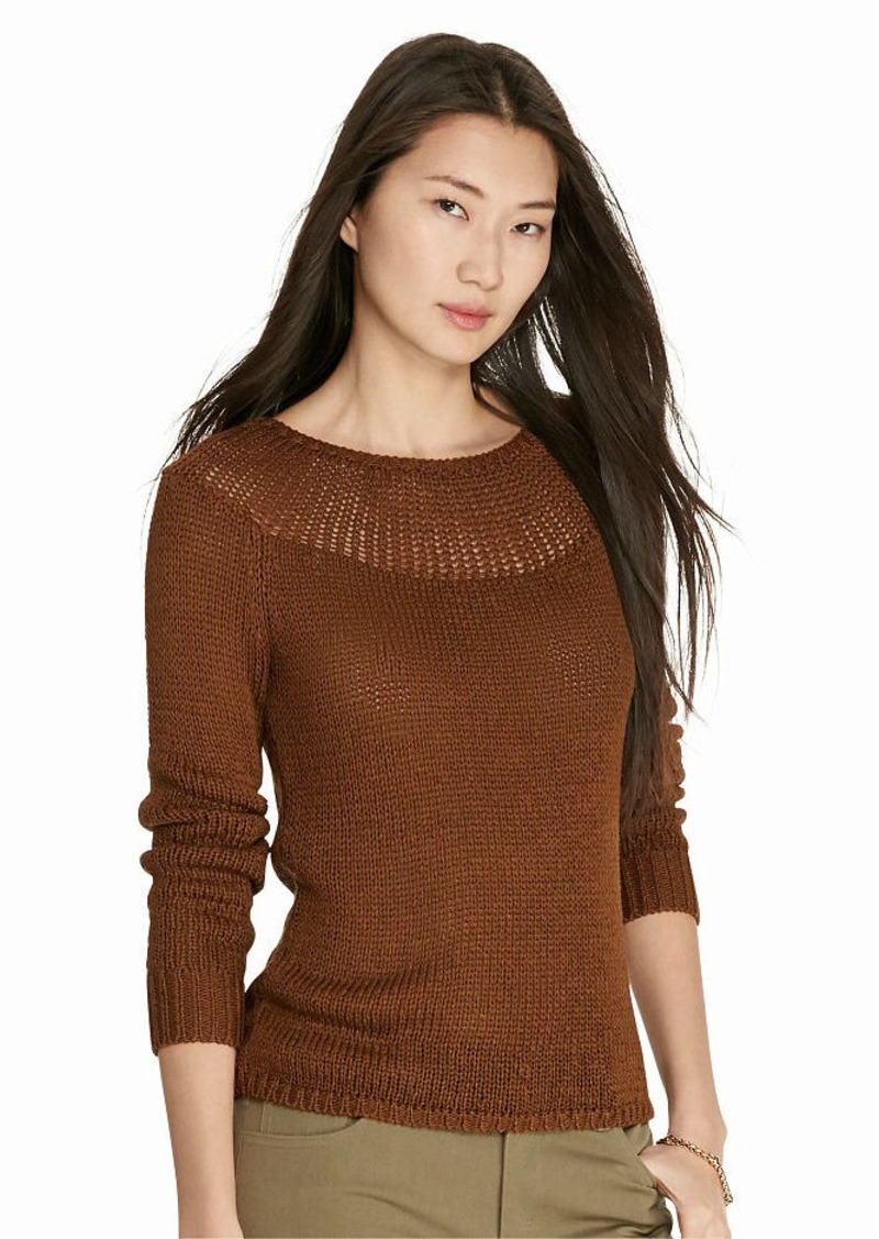 Ralph Lauren Ribbed-Yoke Sweater