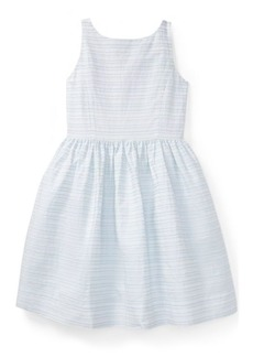 Ralph Lauren Ribbon Striped Cotton Dress