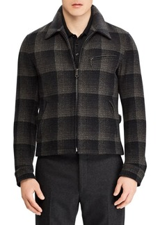 Ralph Lauren Richland Newsboy Plaid Wool Jacket