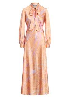 Ralph Lauren: Polo Rily Long-Sleeve Silk Dress