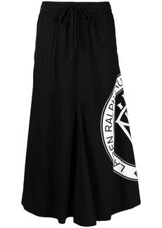 Ralph Lauren ripstop logo-print skirt