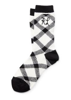 Ralph Lauren RL Buffalo Check Boot Socks